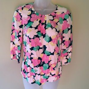 Boden Pocket Top Floral Blouse, Size 4